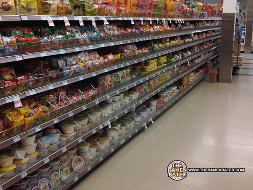 So Lets Get Down To Business Heres A Nice Long Aisle Of Instant Ramen Noodles Many Countries Are Represented Here China Japan The Philippines Korea