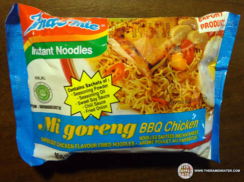 Illustrasi Indomi mi goreng BBQ Chicken.