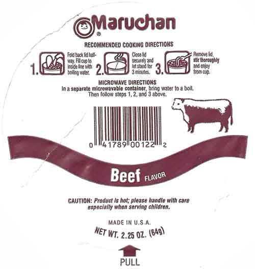 935 Maruchan Instant Lunch Beef Flavor Ramen Noodles With