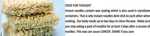 Instant noodles wax fdating