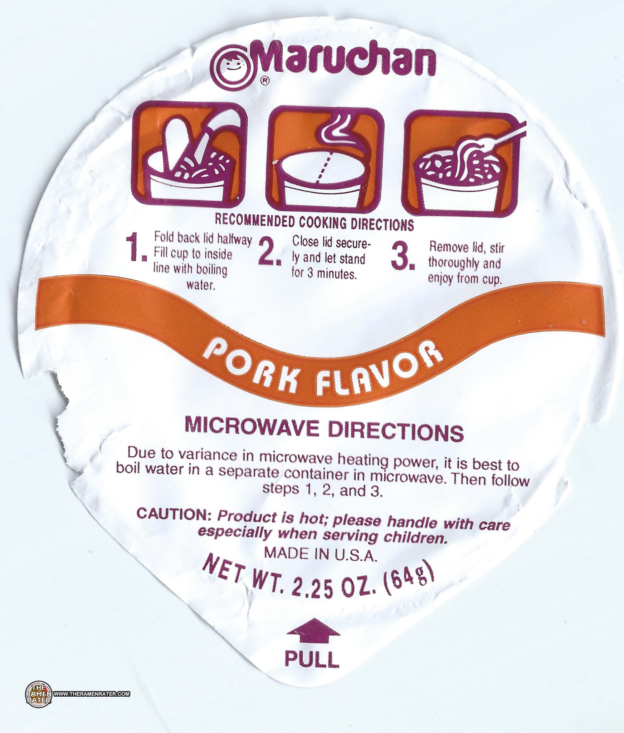 2147 Maruchan Instant Lunch Pork Flavor Ramen Noodles With