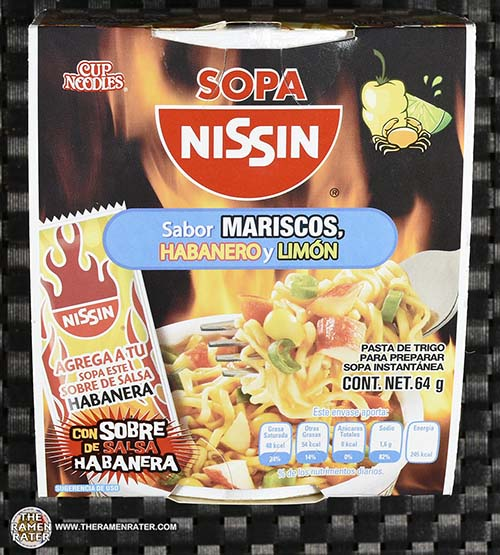 Meet The Manufacturer: #2334: Nissin Cup Noodles Sopa Nissin Sabor Mariscos, Habanero Y Limon - Mexico - The Ramen Rater - fideos instantanea