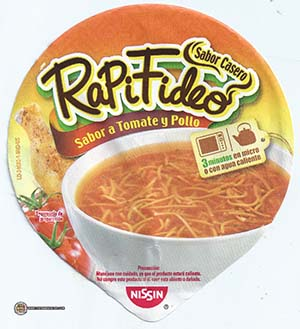 Meet The Manufacturer: #2340: Nissin RapiFideo Sabor A Tomate Y Pollo - Mexico - The Ramen Rater