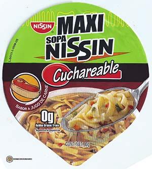 Meet The Manufacturer: #2343: Nissin Maxi Sopa Nissin Cuchareable Sabor A Jugo De Carne - Mexico - The Ramen Rater