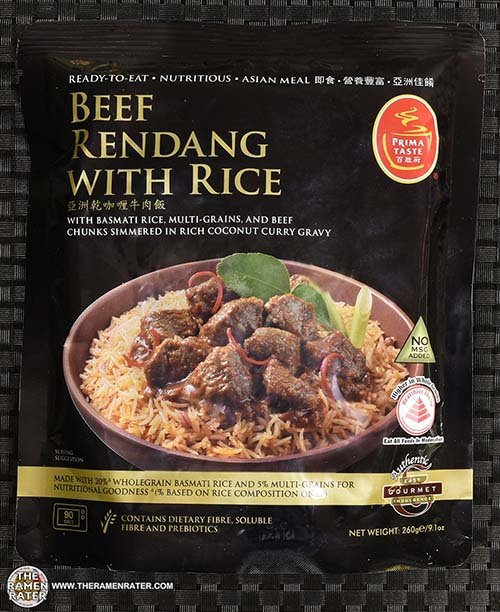 Prima Taste Ready Meal - Beef Rendang With Rice - Singapore - The Ramen Rater