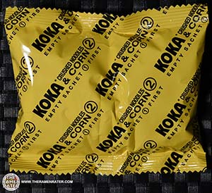 Meet The Manufacturer: #2455: KOKA Creamy Soup With Crushed Noodles Sweet Corn Flavor - Singapore - The Ramen Rater - corn in a cup