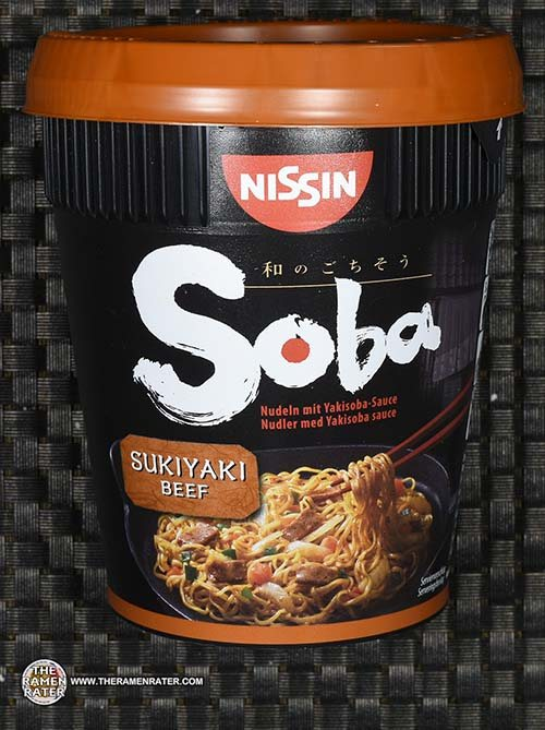 Meet The Manufacturer: #2487: Nissin Soba Nudeln Mit Yakisoba Sauce Sukiyaki Beef - Germany - The Ramen Rater - instant noodles