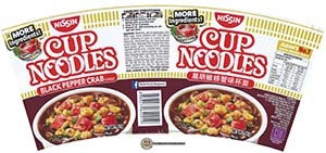 #2520: Nissin Cup Noodles Black Pepper Crab Flavour (More Angry Crab) - Singapore - The Ramen Rater - instant noodles