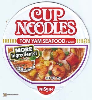 #2537: Nissin Cup Noodles Tom Yam Seafood (More Shrimptacular) - Singapore - The Ramen Rater
