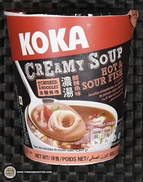 #2558: KOKA Creamy Soup Hot & Sour Fish Flavor - Singapore - The Ramen Rater - instant noodles - Tat Hui - cup