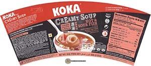 #2558: KOKA Creamy Soup Hot & Sour Fish Flavor - Singapore - The Ramen Rater - instant noodles - Tat Hui - cup