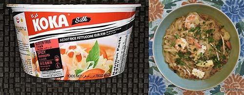 #9: KOKA Silk Spicy Marinara Instant Rice Fettuccine - Singapore - The Ramen Rater - instant rice noodles