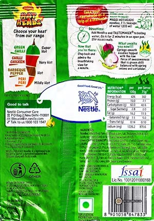 #2580: Maggi Hot Heads Green Chilli Noodles - India - The Ramen Rater - spicy