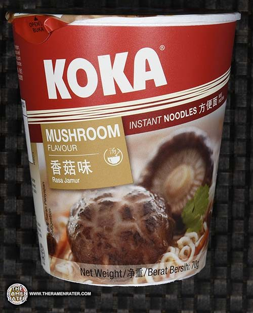 #2565: KOKA Mushroom Flavour Instant Noodles - Singapore - The Ramen Rater