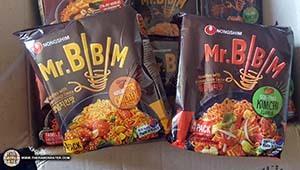 Bokkeum Neoguri & Mr. Bibim Samples From Nongshim South Korea - South Korea - The Ramen Rater - ramyun