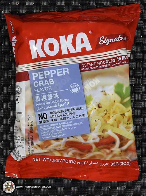 #2602: KOKA Signature Pepper Crab Flavor Instant Noodles - Singapore - The Ramen Rater