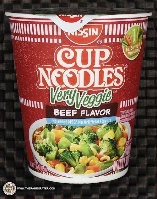 Nissin Cup Noodles Very Veggie Beef Flavor Ramen Noodle Soup