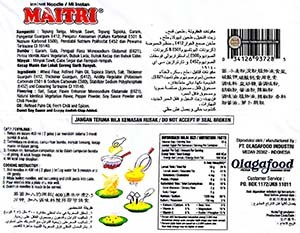 Meet The Manufacturer: #2657: Maitri Vegetarian Extra Hot Fried Noodle - Olagafood - The Ramen Rater - Indonesia