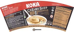 #2692: KOKA Creamy Soup With Crushed Noodles Mushroom Flavor