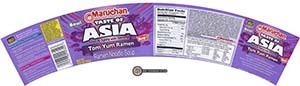 #2676: Maruchan Bowl Taste Of Asia Tom Yum Ramen Noodle Soup