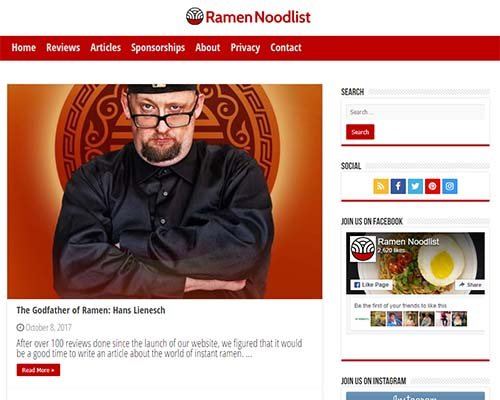 Ramen Noodlist Interviews The Ramen Rater - Singapore - hans lienesch - the ramen rater - instant noodle blog reviewer reviews