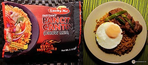 #1: Lucky Me! Instant Pancit Canton (Chow Mein) Extra Hot Chili Flavor