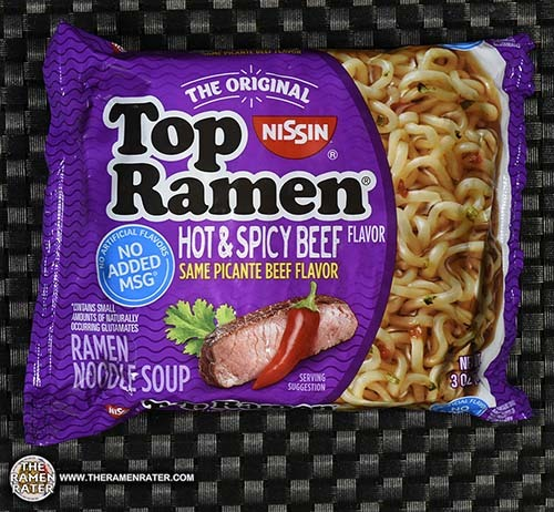 picante beef #2816: Nissin Top Ramen Hot & Spicy Beef Flavor Ramen Noodle Soup