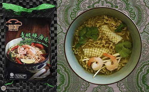 The Ramen Rater's Top Ten Instant Noodles Of All Time - #6: Red Chef Green Tom Yum Soup Noodles - Malaysia