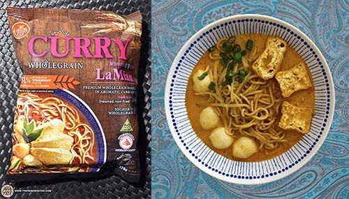 The Ramen Rater's Top Ten Instant Noodles Of All Time - #5: Prima Taste Singapore Curry Wholegrain La Mian - Singapore