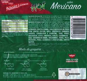 #2893: Nissin Miojo Nissin Lamen Hot Sabor Mexicano