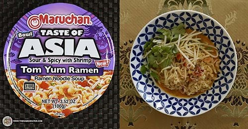 The Ramen Rater's Top Ten Instant Noodle Bowls Of All Time 2018 Edition #9 - Maruchan Bowl Taste Of Asia Tom Yum Ramen Noodle Soup - United States