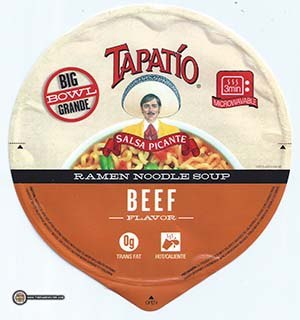 #2987: Tapatio Ramen Noodle Soup Beef Flavor - United States