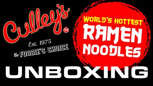 Unboxing: Culley's World's Hottest Ramen Noodles - New Zealand