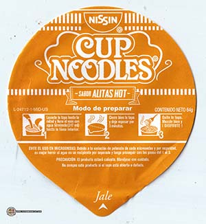 #3099: Nissin Cup Noodles Alitas Hot - Mexico