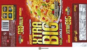 #3190: Payless Xtra Big Pancit Canton Chili-Mansi Flavor - Philippines