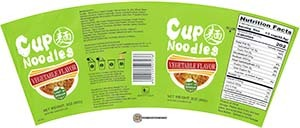 #3222: Jinmailang Cup Noodles Vegetable Flavor - United States