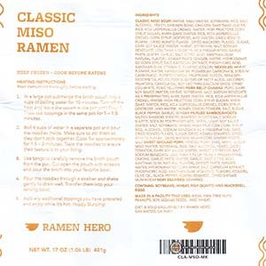 #3253: Ramen Hero Classic Miso Ramen - United States