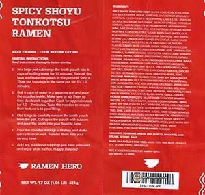 #3254: Ramen Hero Spicy Shoyu Tonkotsu Ramen - United States
