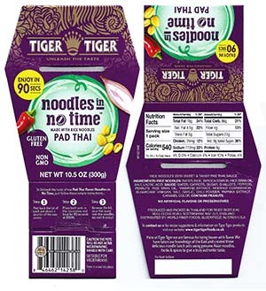 #3232: Tiger Tiger Noodles In No Time Pad Thai - United Kingdom