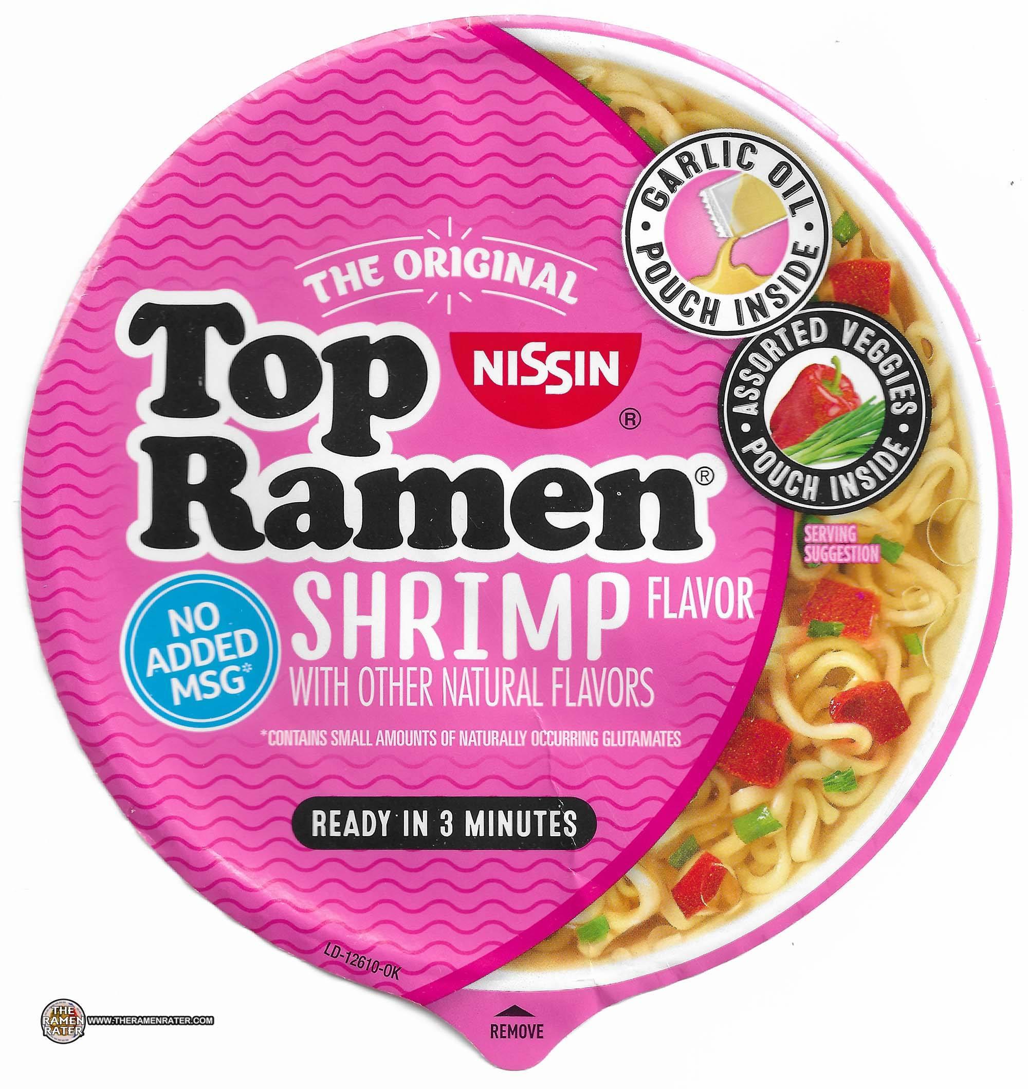 3358 Nissin Top Ramen Shrimp Flavor Bowl United States
