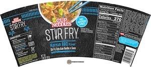 #3365: Nissin Cup Noodles Stir Fry Korean BBQ Flavor - United States