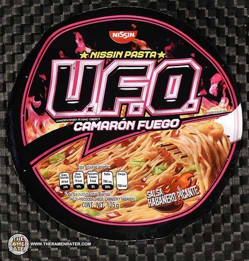 #3338: Nissin Pasta U.F.O. Camaron Fuego Salsa Habanero Picante - Mexico