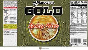 #3380: Maruchan GOLD Spicy Miso Flavor Craft Ramen Noodles - United States