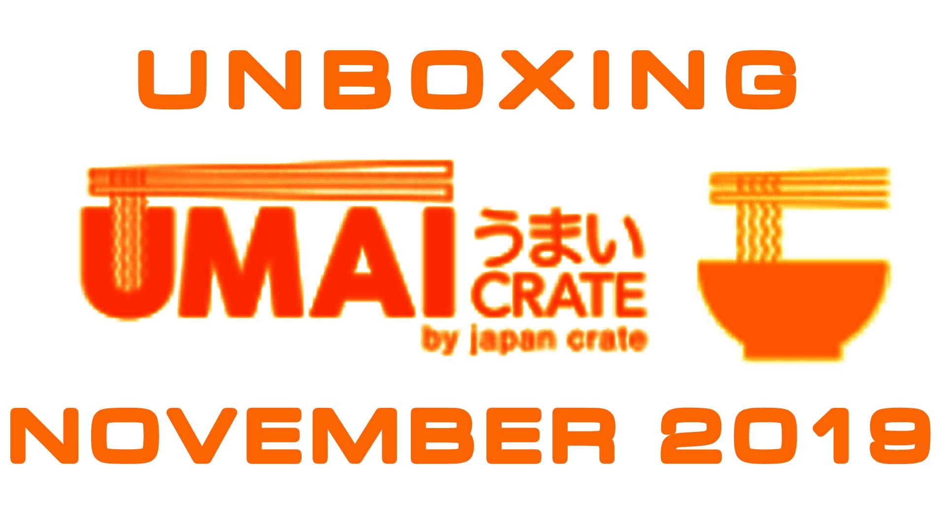 Umai Crate - Japanese Ramen Noodles Subscription Box - November 2019 Unboxing