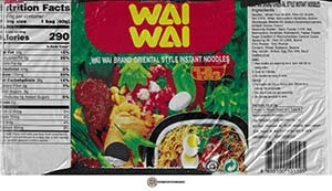 #3463: Wai Wai Brand Oriental Style Instant Noodles - Thailand