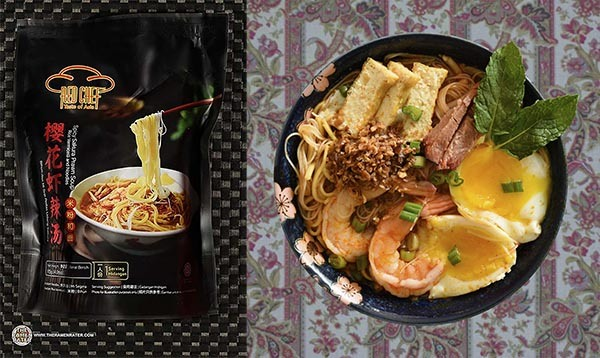 Top Ten Instant Noodles 2020 Red Chef Spicy Sakura Prawn Soup Rice Vermicelli & Noodles (New Recipe) - Malaysia