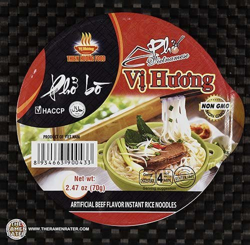 Meet The Manufacturer: #3604: Vi Huong Pho Bo Artificial Beef Flavor Rice Noodles - Vietnam