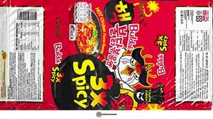 #3676: Samyang Foods Buldak 3x Spicy HOT Chicken Flavor Ramen - South Korea