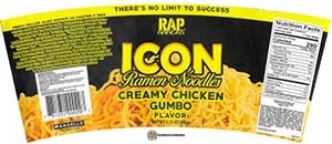 #3680: Rap Snacks Icon Ramen Noodles Creamy Chicken Gumbo - United States